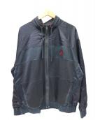 JORDAN(ジョーダン)の古着「切替ジップジャケット」|ブラック