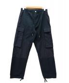 NIKE JORDAN BRAND(ナイキ ジョーダン ブランド)の古着「ナイロン×リップストップカーゴパンツ」 ブラック