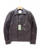 WTAPS(ダブルタップス)の古着「レザージャケット」 ブラック