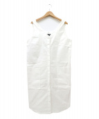 JIL SANDER NAVY(ジルサンダーネイビー)の古着「サロペットワンピース」|ホワイト