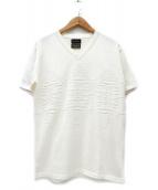 1piu1uguale3×PENDLETON(ウノピゥウノウグァーレトレ×ペンデルトン)の古着「ジョセフ柄半袖ニット」|ホワイト