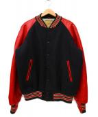 Golden Bear(ゴールデンベア)の古着「レザースリーブスタジャン/アワードジャケット」|ブラック