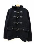 GUILD PRIME(ギルドプライム)の古着「ダッフルニットジャケット」|ブラック