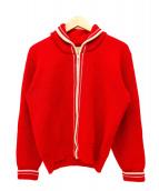 SKOOKUM(スクーカム)の古着「[古着]ウールニットジャケット」|レッド