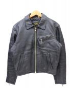 HUMAN BEING(ヒューマンビーング)の古着「シングルライダースジャケット」|ブラック