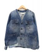 JARLD(ジャールド)の古着「遠州PGデニムノーカラージャケット」|インディゴ