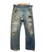 LEVI'S(リーバイス)の古着「[古着]セルビッチデニムパンツ」|インディゴ