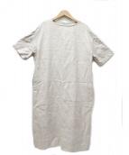 yuni(ユニ)の古着「高密度ツイルリネンワンピース」|アイボリー