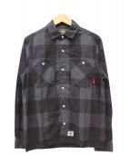 WTAPS(ダブルタップス)の古着「チェックシャツ」|グレー×ブラック