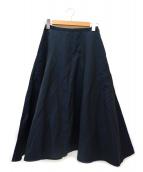 IENA(イエナ)の古着「リネン混デザインフレスカート」|ネイビー