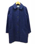 A.P.C.(アーペーセー)の古着「ラウンドカラーツイードステンカラーコート」|ネイビー