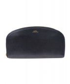 A.P.C.(アーベーセ)の古着「ハーフムーンウォレット」|ブラック