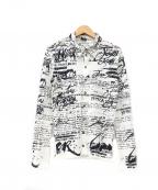 Jean Paul Gaultier homme(ジャンポールゴルチェオム)の古着「総柄シャツ」 ホワイト