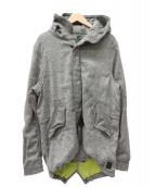 SCOTCH & SODA(スコッチアンドソーダ)の古着「ツイードミドルモッズコート」|グレー