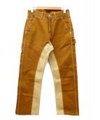 KOJIMA GENES(コジマジーンズ)の古着「モンキーコンボパンツ」 ブラウン