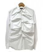 COMME des GARCONS HOMME PLUS(コムデギャルソンオムプリュス)の古着「フロントタックシャツ」 ホワイト