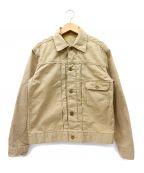 MASTER&CO.(マスターアンドコー)の古着「1stトラッカータイプチノジャケット」|ベージュ