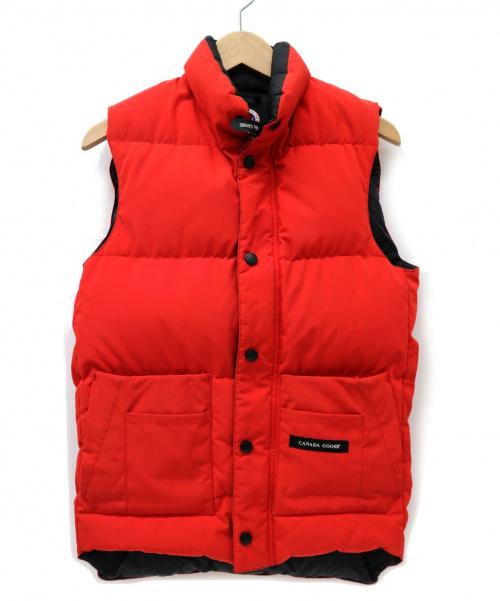 CANADA GOOSE(カナダグース)CANADA GOOSE (カナダグース) フリースタイルダウンベスト レッド サイズ:2XP/2TP 2830JM FREESTYLE DOWN VESTの古着・服飾アイテム