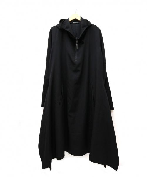 YohjiYamamoto pour homme(ヨウジヤマモトプールオム)YohjiYamamoto pour homme (ヨウジヤマモトプールオム) ハーフジップウールギャバジンロングプルオーバー ブラック サイズ:2 HF-D04-100 14AW名作モデルの古着・服飾アイテム