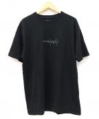 YOHJI YAMAMOTO × NEW ERA(ヨウジヤマモト × ニューエラ)の古着「反転シグネチャーロゴTシャツ」|ブラック