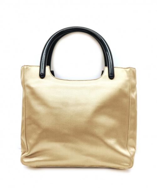PRADA(プラダ)PRADA (プラダ) サテンハンドバッグ ベージュ B8571の古着・服飾アイテム