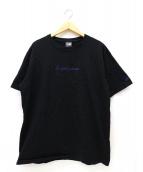 YOHJI YAMAMOTO×NEW ERA(ヨウジヤマモト×ニューエラ)の古着「シグネイチャーロゴTシャツ」|ブラック