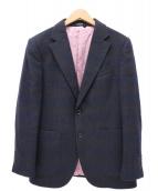 S.Solombrino(サルバトーレ ソロンブリーノ)の古着「カシミヤテーラードジャケット」|ネイビー