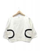 LANVIN en Bleu(ランバンオンブルー)の古着「デザインポケットトップス」|ホワイト