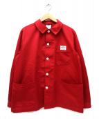DANTON(ダントン)の古着「フレンチワークジャケット」|レッド
