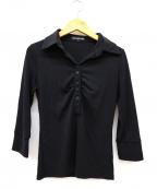 FOXEY NEWYORK(フォクシーニューヨーク)の古着「ジャージーカットソーポロシャツ」|ブラック
