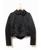 COMME des GARCONS COMME des GARCONS(コムデギャルソン コムデギャルソン)の古着「丸襟ラウンドカラーショートジャケット」|ブラック