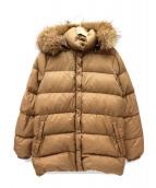 MONCLER(モンクレール)の古着「ファー付きダウンジャケット」|ベージュ