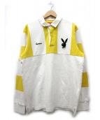 Supreme×PLAY BOY(シュプリーム×プレイボーイ)の古着「プレイボーイラガーシャツ」|ホワイト×イエロー