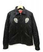 RADIALL(ラディアル)の古着「スカル刺繍スカジャン / スーベニアジャケット」|ブラック