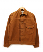 Stevenson Overall Co.(スティーブンソンオーバーオール)の古着「ブラウンダックトラッカージャケット」|ブラウン
