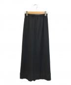 ROBE DE CHAMBRE COMME DES GARC(ローブドシャンブル コムデギャルソン)の古着「[OLD]ストレッチウールマキシスカート」 ブラック