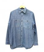 Buzz Ricksons(バズリクソンズ)の古着「シャンブレーシャツ」 インディゴ