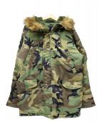 ALPHA(アルファ)の古着「ウッドランドカモ柄N-3Bジャケット」|カーキ