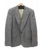 DOLCE & GABBANA(ドルチェアンドガッバーナ)の古着「ヘリンボーンツイードテーラードジャケット」|グレー