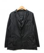 GUY ROVER(ギローバー)の古着「パッカブルナイロンテーラードジャケット」|ブラック