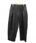 COLINA(コリーナ)の古着「SASHIKO W-TUCK PANTS」|ブラック