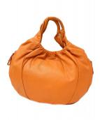 ANTEPRIMA(アンテプリマ)の古着「レザーワンショルダーバッグ」|オレンジ