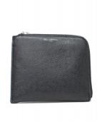PELLE MORBIDA(ペッレモルビダ)の古着「財布 / Lジップコンパクトウォレット」|ブラック