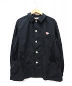DANTON×BEAMS(ダントン×ビームス)の古着「別注ナイロンタフタカバーオールジャケット」|ブラック