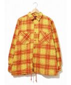 BRU NA BOINNE(ブルーナボイン)の古着「ウォンドシャツ」|イエロー×オレンジ