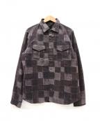 roar(ロアー)の古着「パッチワーク転写シャツジャケット」|グレー