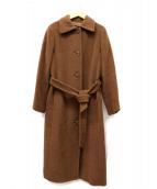 EPOCA(エポカ)の古着「カシミヤ混ローブベルトステンカラーコート」|ブラウン