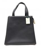 MORABITO(モラビト)の古着「カーフレザートートバッグ」|ブラック