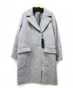 Loungedress(ラウンジドレス)の古着「アンフゴラウールジップコート」 グレー