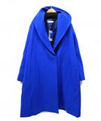 MOGA(モガ)の古着「ショールカラーウールコート」|ブルー